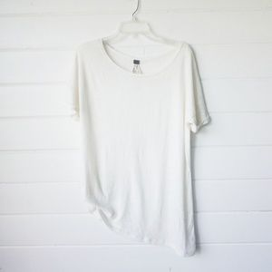 We the free asymmetrical cream shirt sz XS